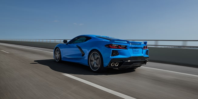2020 Chevrolet Corvette Sports Car: rear profile