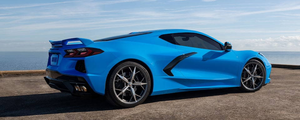 2020 Chevrolet Corvette Sports Car: Rear side profile